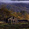 Fall Sunrise Old Barn At 21/43 Intersection by Michael Dougherty
