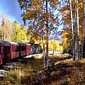Fall Train Ride New Mexico by Kurt Van Wagner