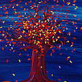 Fall Tree Fantasy By Jrr by First Star Art