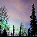 Falling Star And Aurora by Ron Day