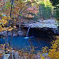 Falling Water Waterfall by C Thorton