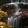 Falls And Fall Leaves by Paul W Faust -  Impressions of Light