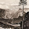 Falls Of The Yosemite Painting by Warren Thompson