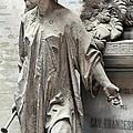 Famiglia Cavaliere Del Francesco Canti Memorial Marker Detail I  by Sally Rockefeller
