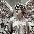 Famiglia Cavaliere Del Francesco Canti Memorial Marker Detail IIi Monumental Cemetery by Sally Rockefeller