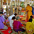 Families Awaiting Teaching From A Monk At Wat Tha Sung Temple In Uthaithani-thailand by Ruth Hager