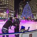 Family At Detroit Ice Rink   by John McGraw