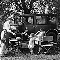 Family Camping by Underwood Archives