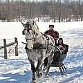 Family Sleigh Ride by Valerie Kirkwood