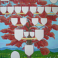 Family Tree Ruby-red by Alix Mordant