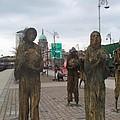 Famine Monument Dublin Ireland by Barbara McDevitt
