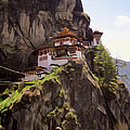 Famous Tigers Nest Monastery Of Bhutan 12 by Jeelan Clark