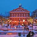 Faneuil Hall Holiday- Boston by Joann Vitali