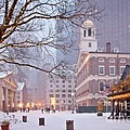 Faneuil Hall In Snow by Susan Cole Kelly