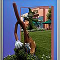 Fantasia Mickey And Broom Floral Walt Disney World Hollywood Studios by Thomas Woolworth