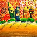 Fantasy Art - The Village Festival by Nirdesha Munasinghe