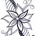 Fantasy Flower 6 by Sandy Rosen