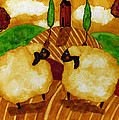 Farm Animals Countryside Sheep Italian Whimsical Folk Debi Hubbs Children Art by Debi Hubbs