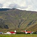 Farm At Eyjafjallajokull Glacier. by Jackie Follett