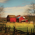 Farm - Barn - Just Up The Path by Mike Savad