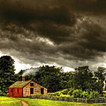 Farm - Barn - Storms A Comin by Mike Savad
