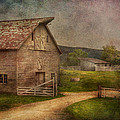 Farm - Barn - The Old Gray Barn  by Mike Savad