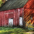 Farm - Barn - The Old Red Barn by Mike Savad