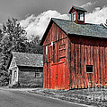 Farm - Barn - Weathered Red Barn by Paul Ward