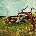 Farm Equipment In A Field by Amy Cicconi
