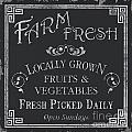 Farm Fresh Sign by Debbie DeWitt