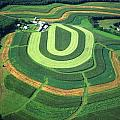 Farm Greens And Hillside Contour Plowing by Blair Seitz