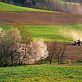Farm Landscape Springtime Pennsylvania by Blair Seitz