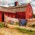 Farm - Laundry - The Clothes Line by Mike Savad