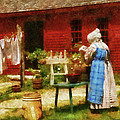 Farm - Laundry - Washing Clothes by Mike Savad