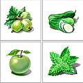 Farmers Market Gifts Green Vitamins by Irina Sztukowski