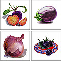 Farmers Market Gifts  Purple Vitamins by Irina Sztukowski