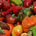 Farmers Market Peppers by Diane Lent