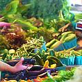 Farmer's Market Produce Stall by Michele Steffey