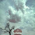 Farmhouse And Tree by Jill Battaglia