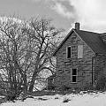 Farmhouse Black And White by Richard Kitchen