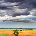 Farmhouse In The Storm Panorama by Eric Benjamin