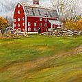 Red Barn Art- Farmhouse Inn At Robinson Farm by Lourry Legarde
