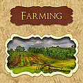 Farming And Country Life Button by Mike Savad