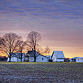 Farmstead at Sunset by Cricket Hackmann