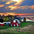 Farmstead At Sunset by Julie Dant