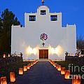 Farolitos Saint Francis De Paula Mission by Bob Christopher