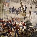 Farragut On The Hartford At Mobile Bay by Henry Alexander Ogden
