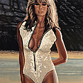 Farrah Fawcett Painting by Paul Meijering