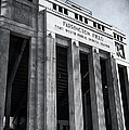 Farrington Field Facade Bw by Joan Carroll