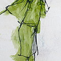 Fashion Drawing From Art Center College - 1962 by Robert Birkenes